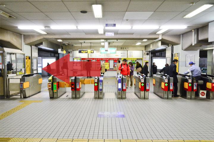 試写室江坂店駅からのルート1