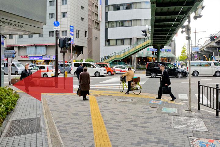 試写室江坂店駅からのルート4