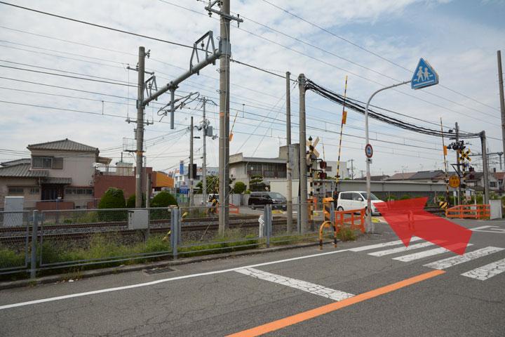 試写室和泉店駅からのルート4