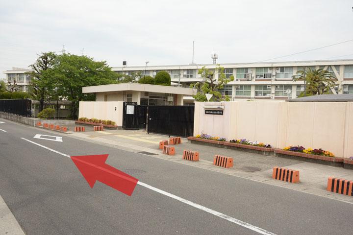 試写室和泉店駅からのルート6