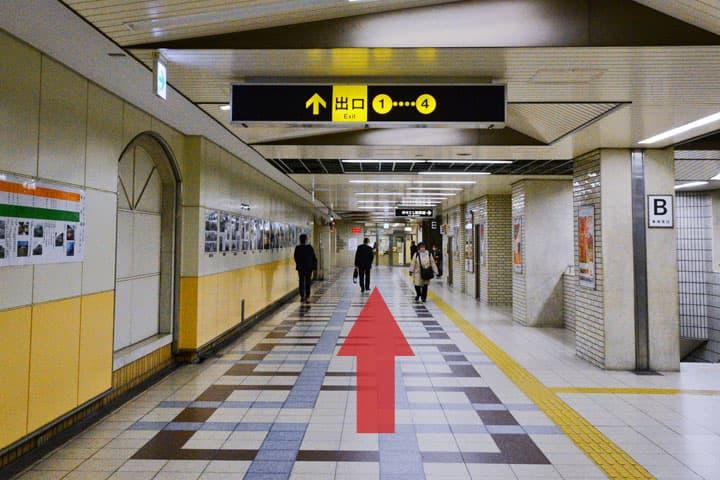 試写室長田店駅からのルート1