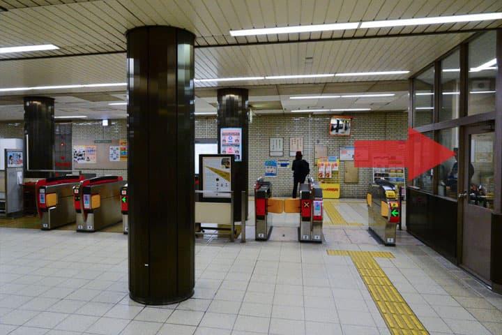 試写室長田店駅からのルート2