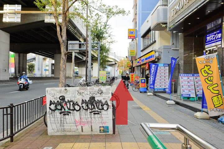 試写室長田店駅からのルート7