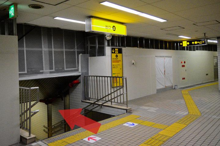 試写室瓜破店駅からのルート3