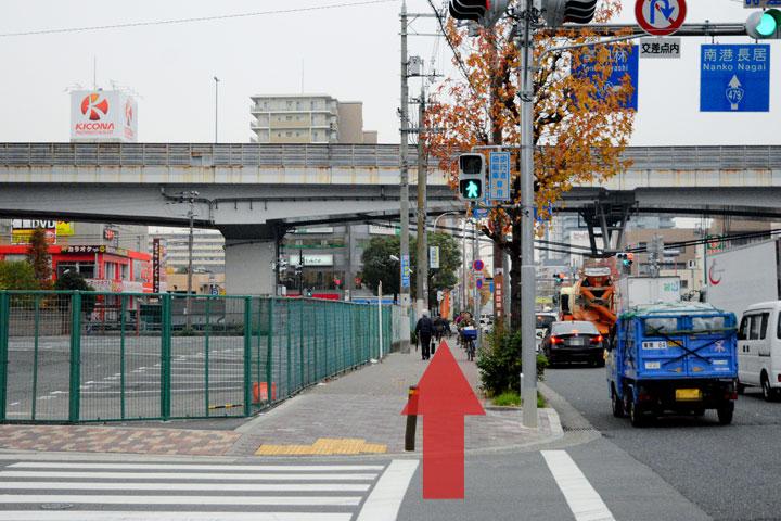 試写室瓜破店駅からのルート6