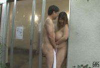 狭い混浴で超乳と遭遇! 優木いおり