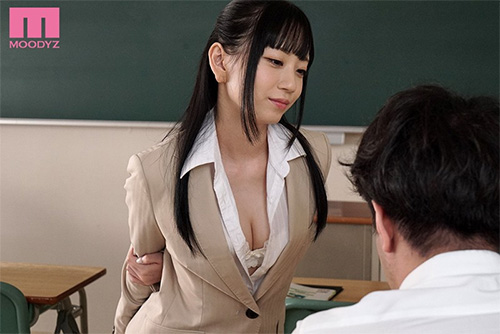 おチ○ポ挑発練習中!! 誘惑新任女教師 七沢みあサンプル画像6